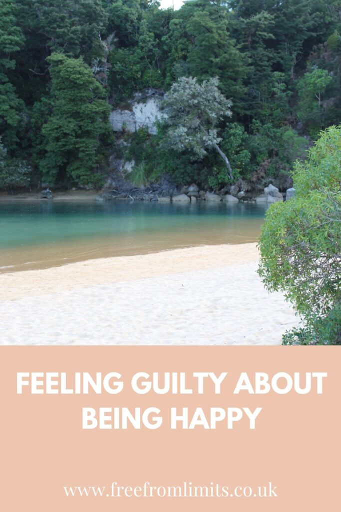 Are you feeling guilty about being happy? Especially during lockdown when others' are suffering? If so then read this article to discover why you don't need to feel guilty and what you could do instead. #freefromlimits #vickimontague #wellbeingcoaching