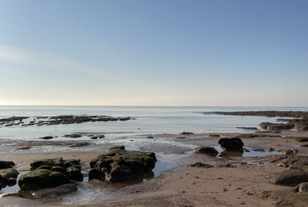 A perfect calm day at the beach